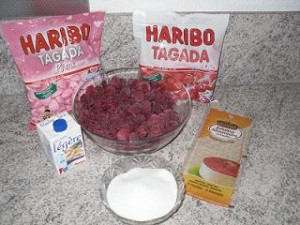 Ingrédients Bavarois aux framboises et fraises Tagada®