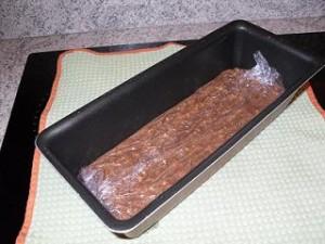 préparation terrine au chocolat praliné et pop corn