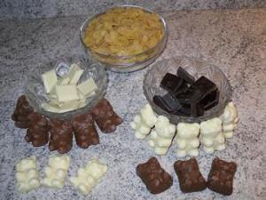 Ingrédients bouchées de céréales au chocolat et nounours