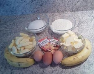 ingrédients Bonbons bananas cake ou cake aux deux bananes
