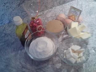 Ingrédients cannelés aux pralines roses