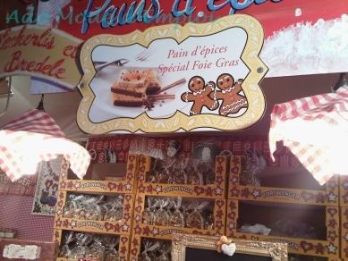 Pain d'épices pour le foie gras Marché de Noël de Strasbourg
