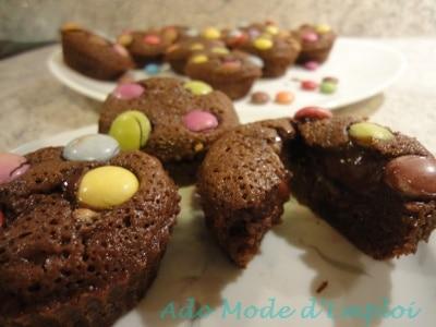 fondants chocolat aux mars et smarties