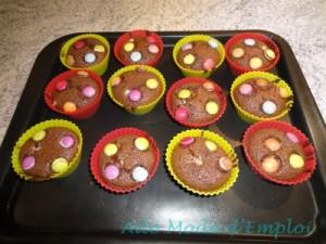 préparation fondants chocolat aux mars et smarties
