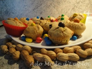 Cacahuètes muffins