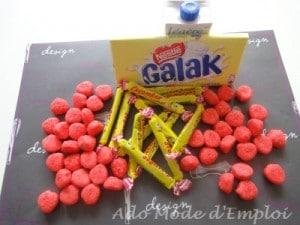 Ingrédients Mille-feuilles aux carambar® et bonbons fraises