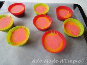 Préparation Cupcake arc en ciel