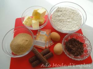 Ingrédients Big Cookies aux Twix, cacahouètes et beurre salé