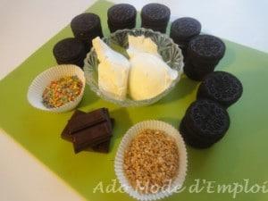 Ingrédients fleurs de truffes aux oréos®