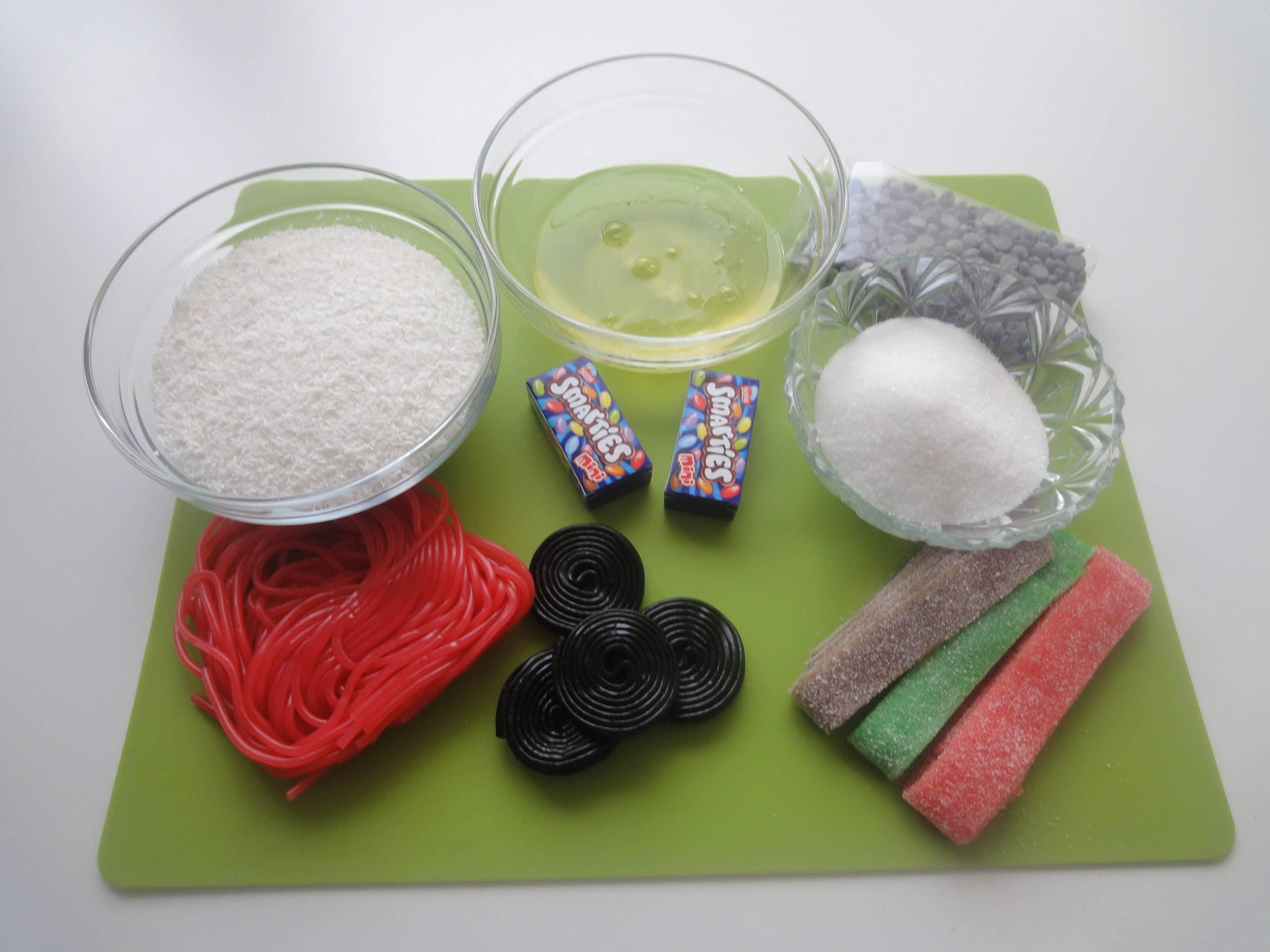 ingrédients Ibonhomme de neige de Noêl à la noix de coco