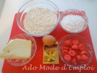 Ingrédients Biscuits de l'avent aux fraises Tagada®