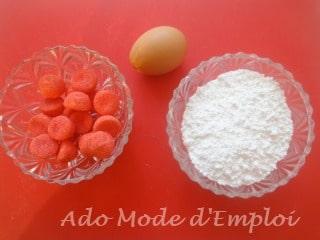Préparation Biscuits de l'avent aux fraises Tagada®