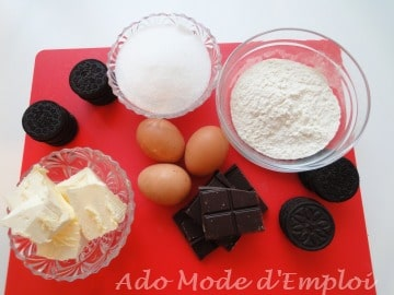 ingrédients cupcakes aux oreos