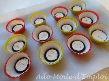 préparation cupcakes aux oreos