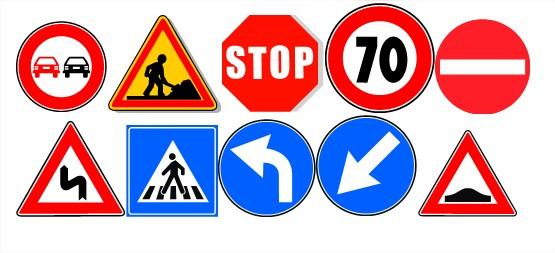 Panneaux de signalisation pour permis de conduire