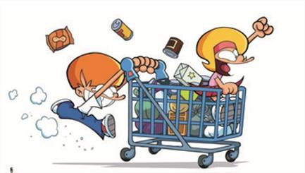 Les astuces des ados pour s'occuper dans les supermarchés